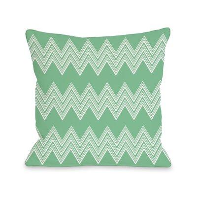 Juniper Multi Chevron Throw Pillow Color: Green 72091PL18