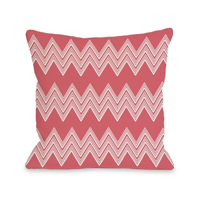 Juniper Multi Chevron Throw Pillow Color: Salmon