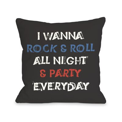 Party Every Day Throw Pillow
