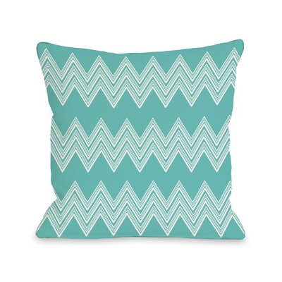 Juniper Multi Chevron Throw Pillow Color: Turquoise