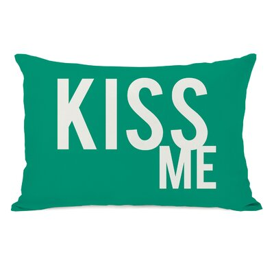 Bold Kiss Me Lumbar Pillow