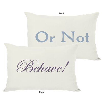 Behave or Not Reversible Lumbar Pillow Color: Ivory/Grape/Blue