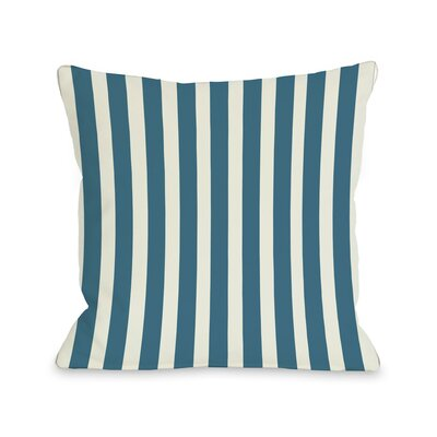Stripes Throw Pillow Color: Blue