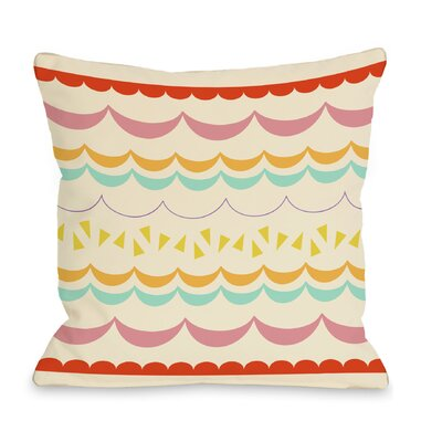 Lilly Scallops Throw Pillow Size: 18 H x 18 W