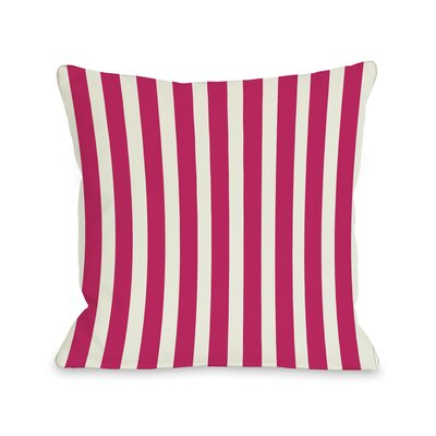 Stripes Throw Pillow Color: Fuchsia