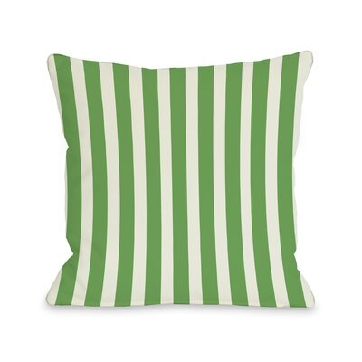 Stripes Throw Pillow Color: Green