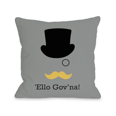 Ello Govna Throw Pillow Size: 18 H x 18 W