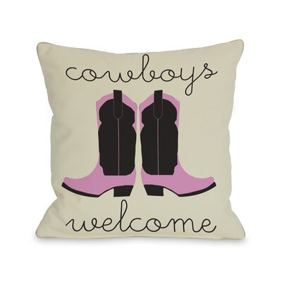 Cowboys Welcome Throw Pillow Size: 16 H x 16 W