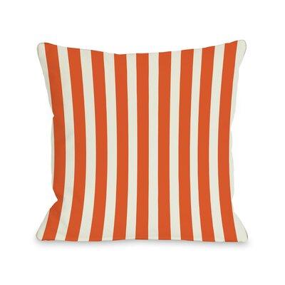 Stripes Throw Pillow Color: Orange