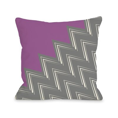 Maxine Asymmetry Chevron Throw Pillow Color: Orchid Gray, Size: 18 x 18