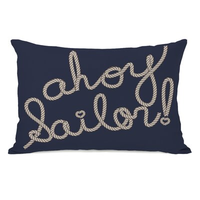 Ahoy Sailor Rope Lumbar Pillow Color: Red