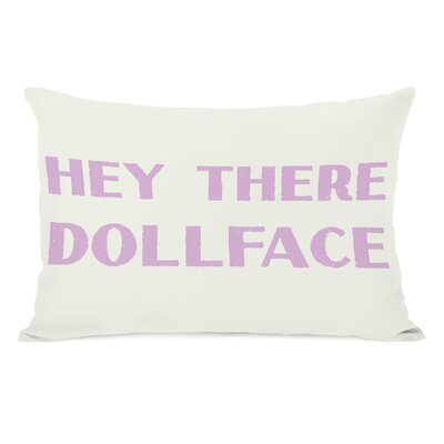 Hey There Dollface Lumbar Pillow