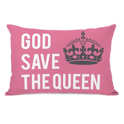 God Save the Queen Lumbar Pillow Size: 16 H x 16 W x 3 D