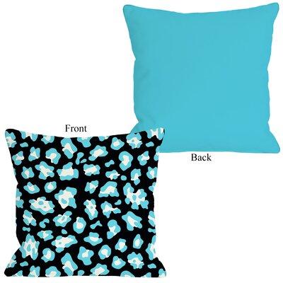 Gabriella Cheetah Throw Pillow Size: 20 H x 20 W, Color: Neon - Blue