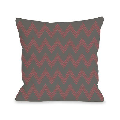 Athena Tier Throw Pillow Color: Charcoal Firey Coral