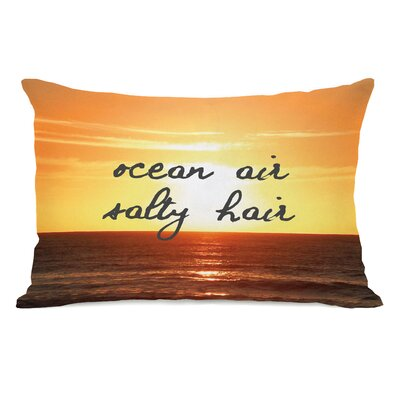 Ocean Air, Salty Hair Script Lumbar Pillow