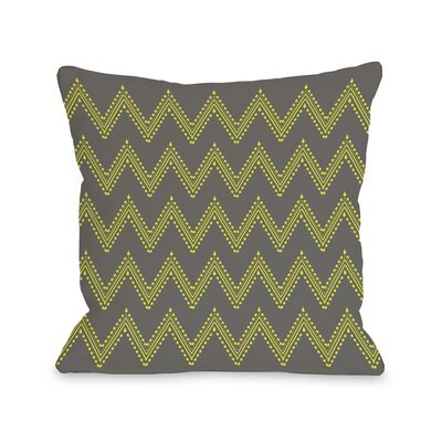 Athena Tier Throw Pillow Color: Charcoal Yellow