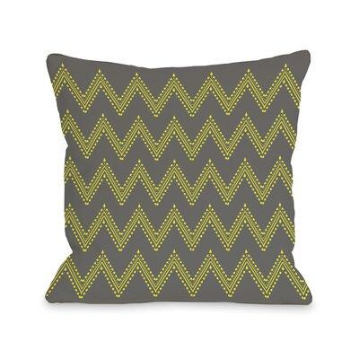 Athena Tier Throw Pillow Color: Charcoal Yellow