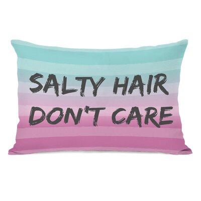 Salty Hair, Dont Care Lumbar Pillow Color: Multi Grey