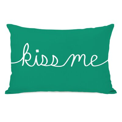 Kiss Me Mix and Match Lumbar Pillow Color: Emerald