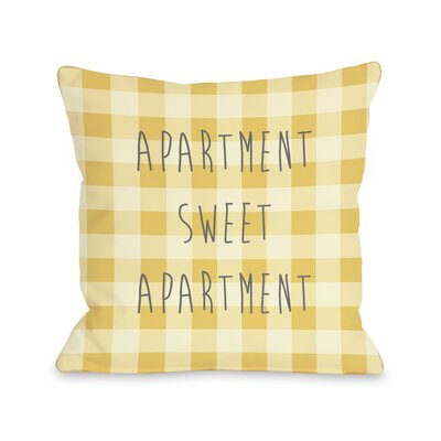 Apartment Sweet Apartment Gingham Fleece Throw Pillow
