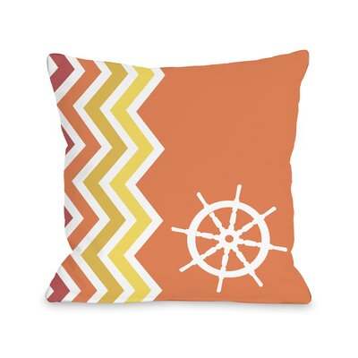 Chevron Wheel Throw Pillow Size: 16 H x 16 W