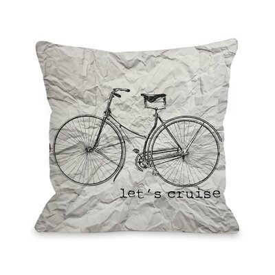 Lets Cruise Paper Texture Throw Pillow