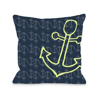 Kaia Anchors Away Throw Pillow Size: 18 H x 18 W