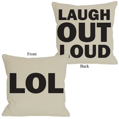 LOL Reversible Throw Pillow Size: 20