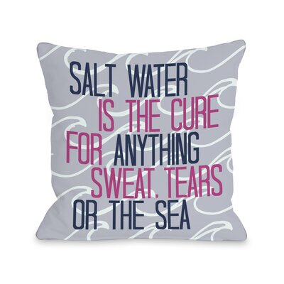 Salt Water Cure Waves Throw Pillow Size: 18 H x 18 W