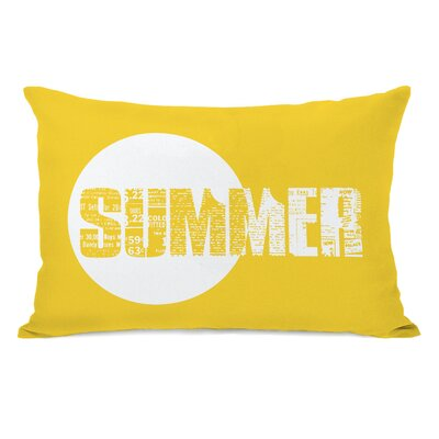 Summer Text Lumbar Pillow