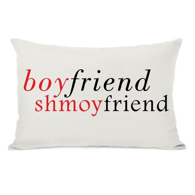 Boyfriend Shmoyfriend Lumbar Throw Pillow