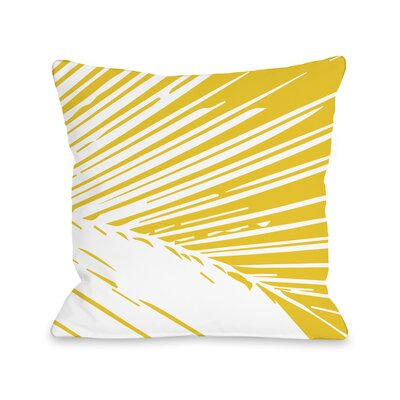 Alaiya Palm Leaves Throw Pillow Size: 18 H x 18 W