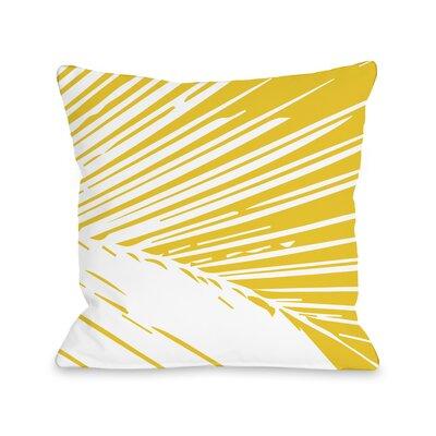 Alaiya Palm Leaves Throw Pillow Size: 16 H x 16 W
