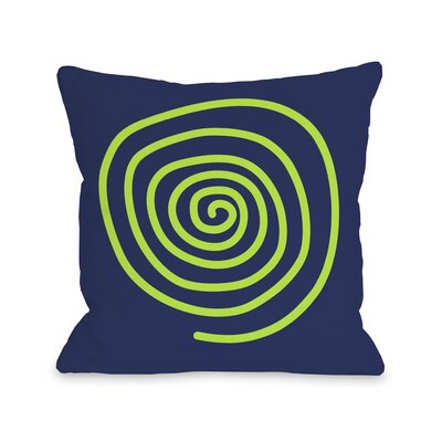 Neon Swirl Throw Pillow Size: 18 H x 18 W