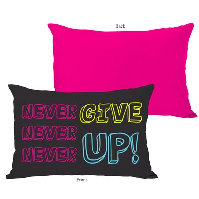 Never Give Up Lumbar Pillow