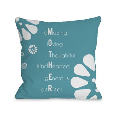 Mother Definition Throw Pillow Size: 16 H x 16 W