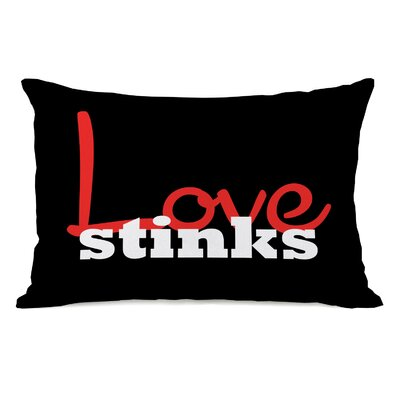 Love Stinks Lumbar Throw Pillow