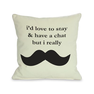 Must Dash Throw Pillow Size: 26 H x 26 W, Color: Ivory Black