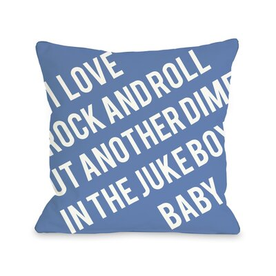 Put Another Dime in The Jukebox Baby Throw Pillow