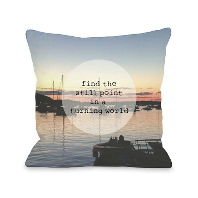 Find a Still Point Harbor Photo Throw Pillow Size: 16 H x 16 W