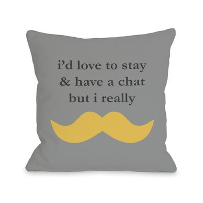 Must Dash Throw Pillow Size: 16 H x 16 W, Color: Gray Mimosa