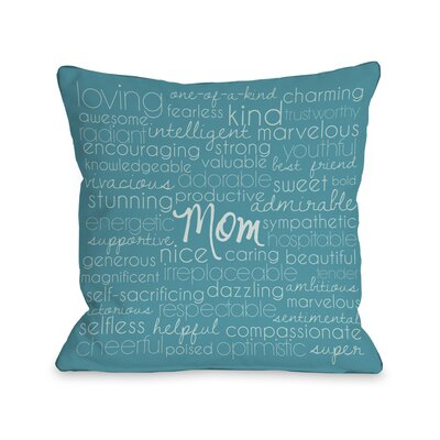 Mom Description Fleece Throw Pillow