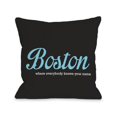 Boston Knows Your Name Throw Pillow