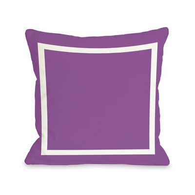 Samantha Simple Throw Pillow Size: 16 H x 16 W, Color: Purple