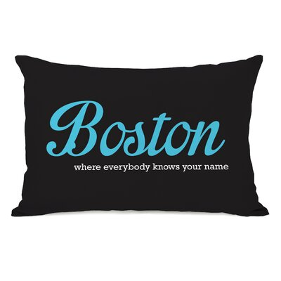 Boston Knows Your Name Throw Pillow