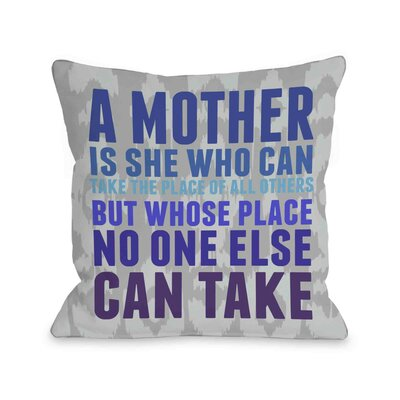 Mothers Place Ikat Throw Pillow Size: 16 H x 16 W, Color: Gray Blue Violet