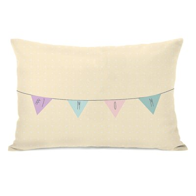 Mom Banner Lumbar Pillow