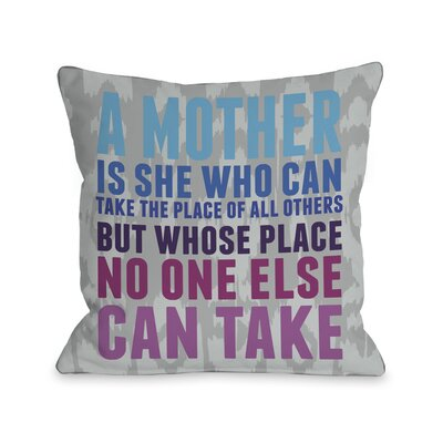 Mothers Place Ikat Throw Pillow Size: 16 H x 16 W, Color: Gray Blue Pink