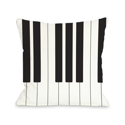 Piano Throw Pillow Size: 16 H x 16 W